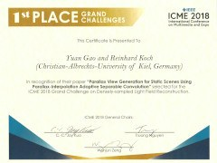 ICME18 Certificate